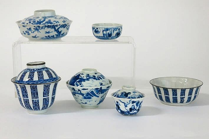 Lot Chinees porselein met blauwwit decor