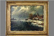 19th Cent. oil on panel - signed