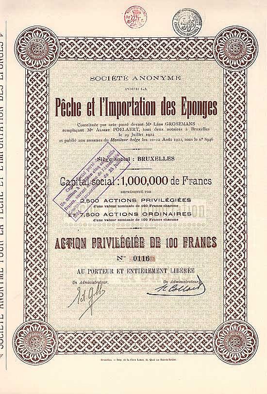 S.A. pour la Peche et l'Importation des Eponges