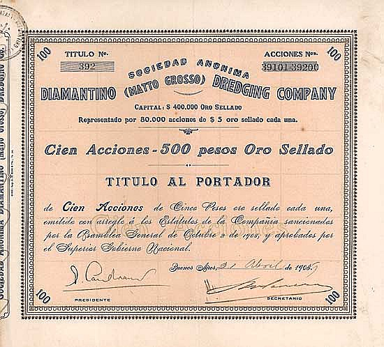 S.A. Diamantino (Matto Grosso) Dredging Company