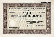 AG für Feinmechanik vormals Jetter & Scheerer