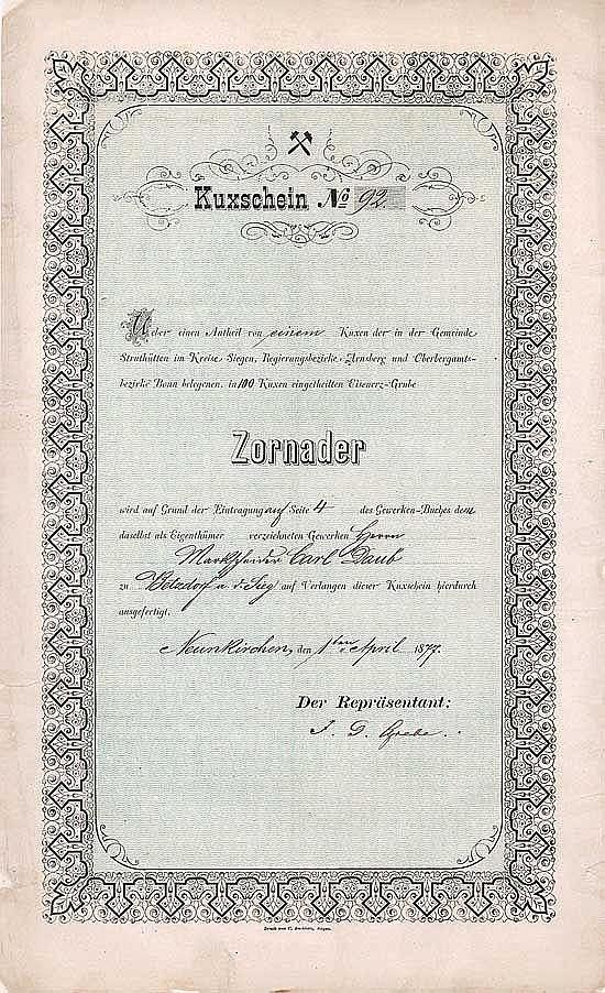 Eisenerz-Grube Zornader