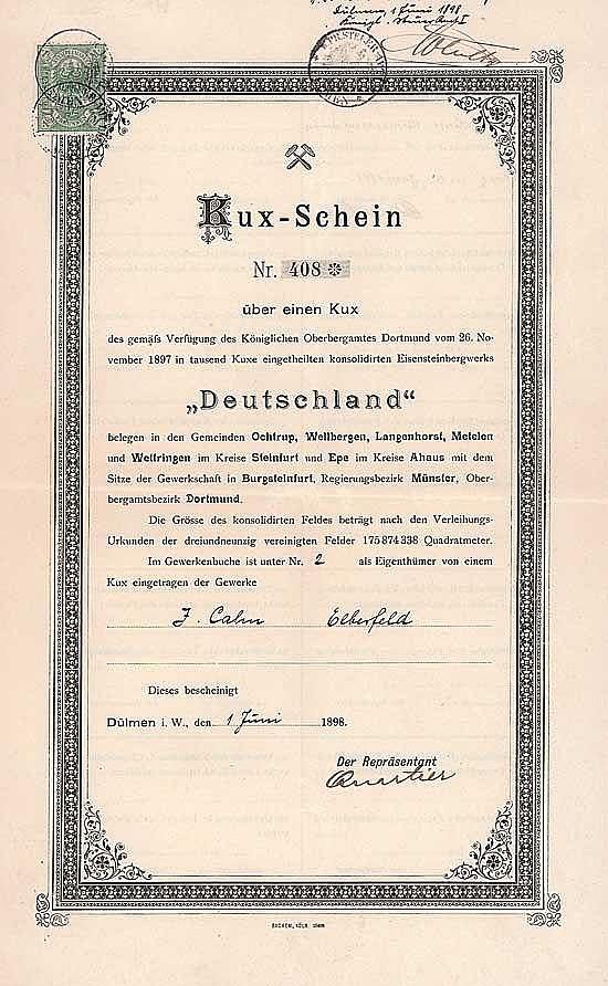 Eisensteinbergwerk Deutschland