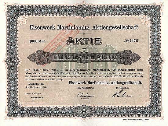 Eisenwerk Martinlamitz AG