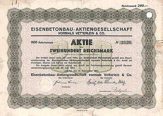 Eisenbetonbau-AG vormals Vetterlein & Co.