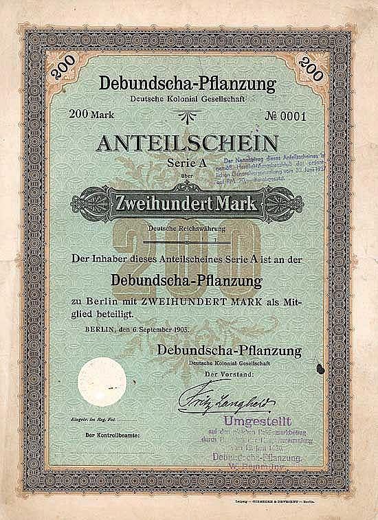 Debundscha-Pflanzung Deutsche Kolonial-Gesellschaft