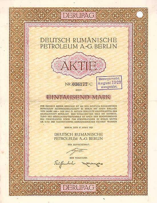 Deutsch Rumänische Petroleum AG (DERUPAG)