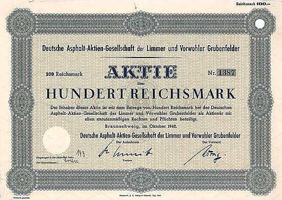 Deutsche Asphalt-AG der Limmer und Vorwohler Grubenfelder