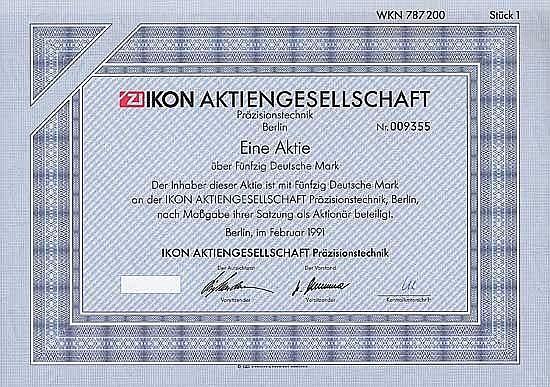 IKON AG Präzisionstechnik