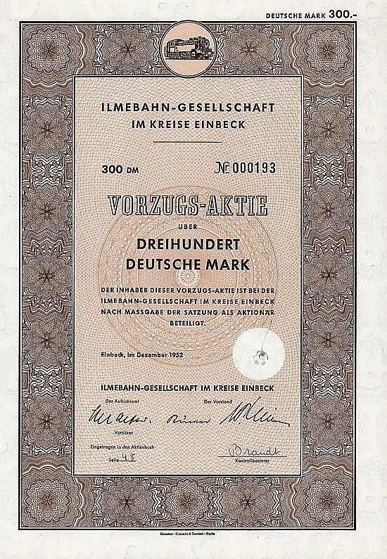 Ilmebahn-Gesellschaft im Kreise Einbeck