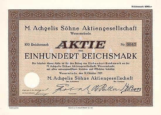 M. Achgelis Söhne AG