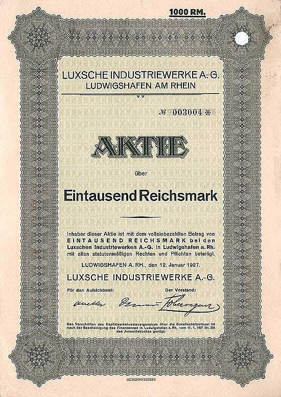 Luxsche Industriewerke AG