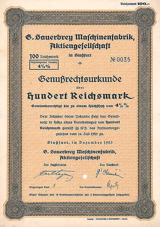 G. Sauerbrey Maschinenfabrik AG