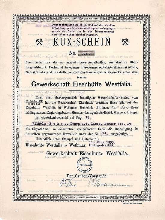 Gewerkschaft Eisenhütte Westfalia