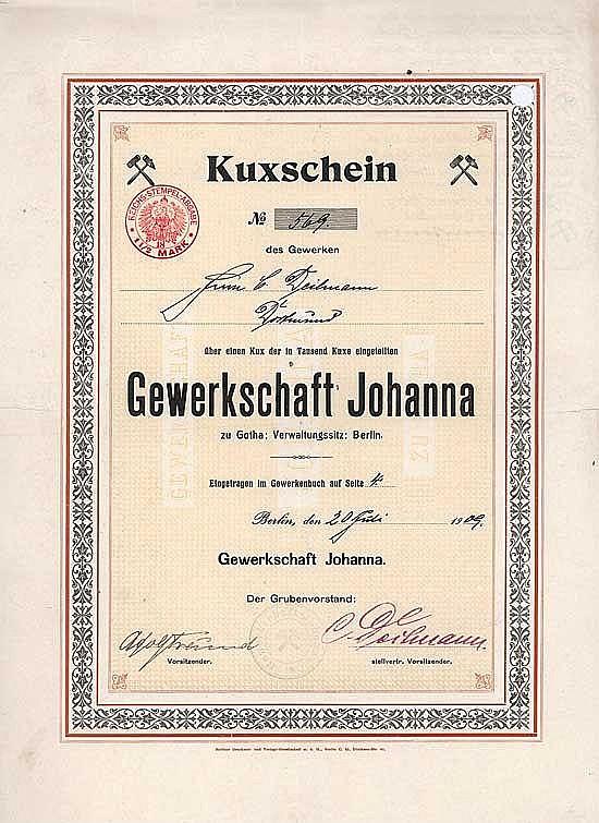 Gewerkschaft Johanna