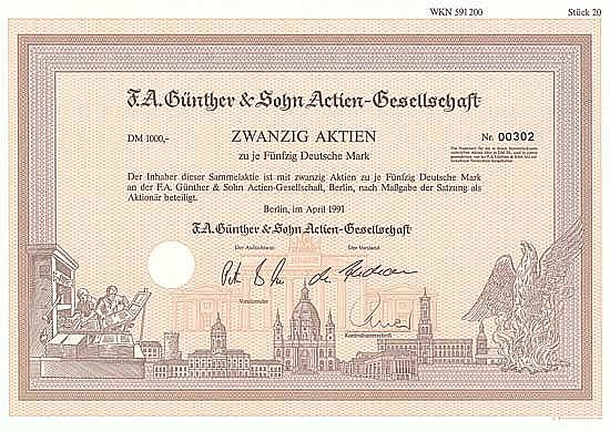 F. A. Günther & Sohn AG