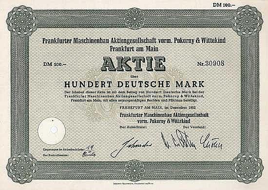 Frankfurter Maschinenbau AG vorm. Pokorny & Wittekind