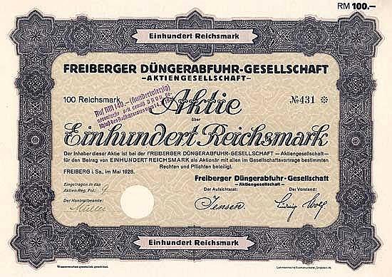 Freiberger Düngerabfuhr-Gesellschaft AG