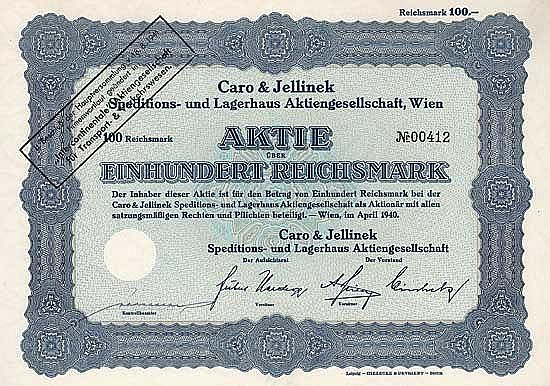 Caro & Jellinek Speditions- und Lagerhaus AG