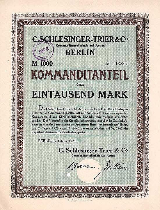 C. Schlesinger-Trier & Co. KGaA