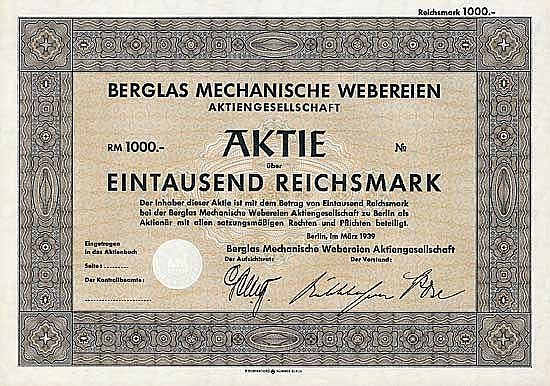 Berglas Mechanische Webereien AG