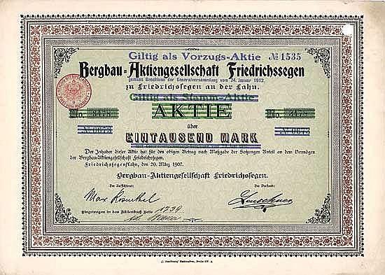 Bergbau-AG Friedrichssegen