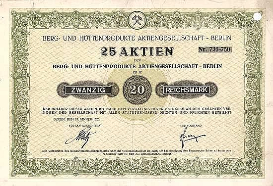 Berg- und Hüttenprodukte AG