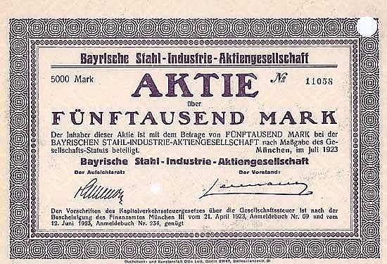 Bayrische Stahl-Industrie-AG