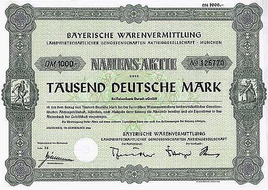 Bayerische Warenvermittlung landwirtschaftlicher Genossenschaften AG