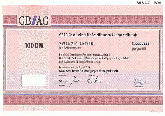 GBAG Gesellschaft für Beteiligungen AG