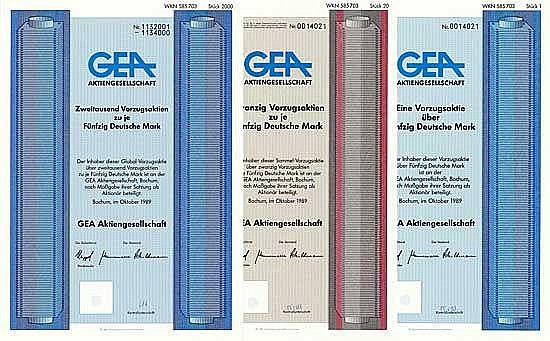 GEA AG (6 Stücke)