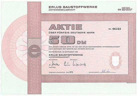 ERLUS Baustoffwerke-AG
