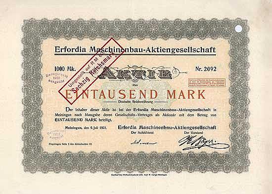 Erfordia Maschinenbau-AG