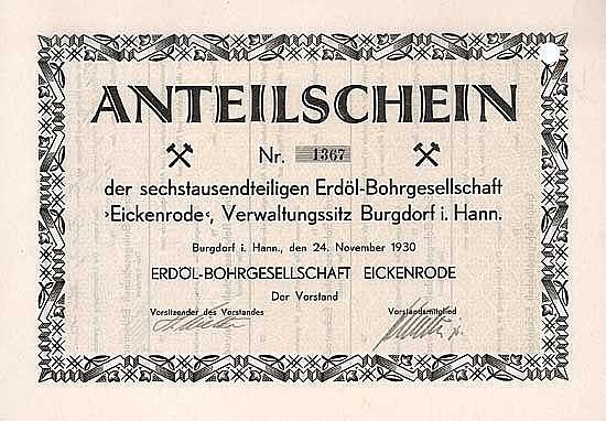 """Erdölbohrgesellschaft """"Eickenrode"""""""