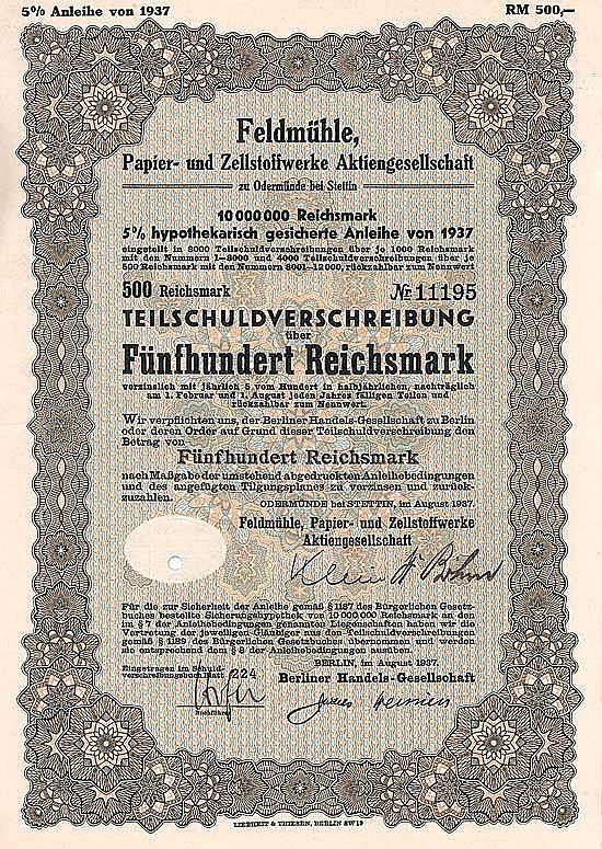 Feldmühle Papier- und Zellstoffwerke AG