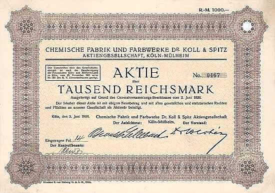 Chemische Fabrik und Farbwerke Dr. Koll & Spitz AG