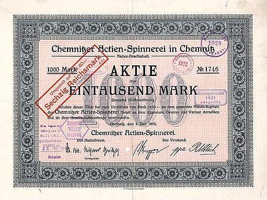 Chemnitzer Actien-Spinnerei