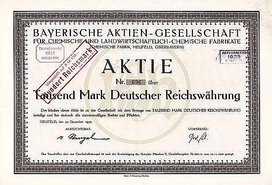 Bayerische AG für chemische und landwirtschaftlich-chemische Fabrikate