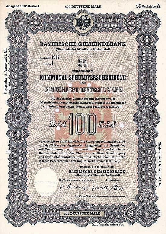 Bayerische Gemeindebank (Girozentrale) Öffentliche Bankanstalt