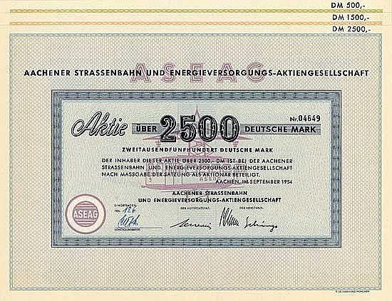 Aachener Strassenbahn und Energieversorgungs-AG (4 Stücke)