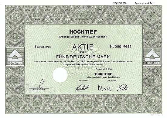 Hochtief AG vorm. Gebr. Helfmann