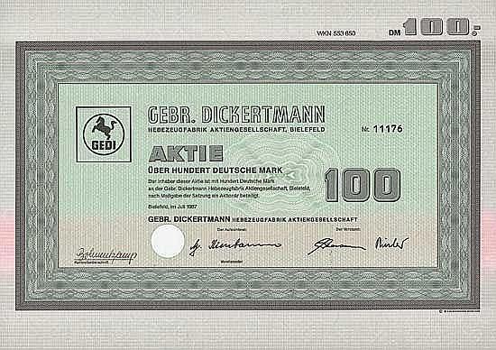 Gebr. Dickertmann Hebezeugfabrik AG
