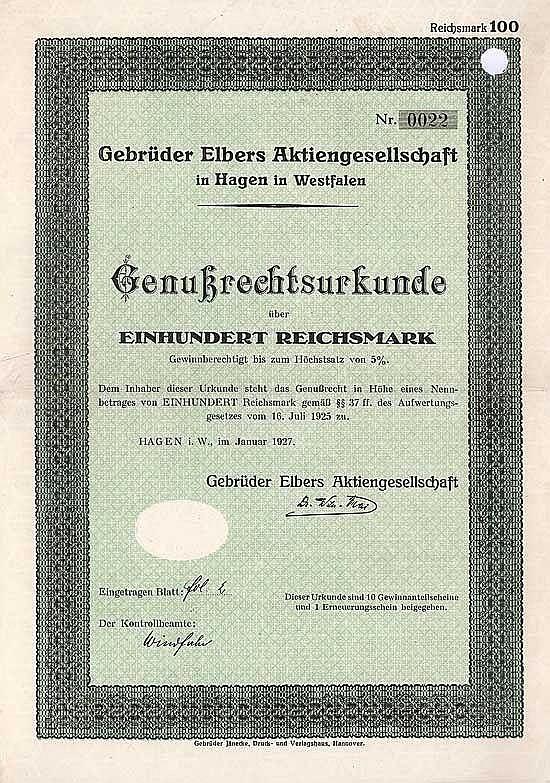 Gebrüder Elbers AG
