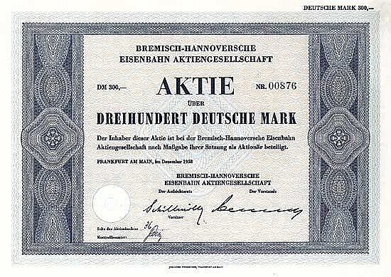 Bremisch-Hannoversche Eisenbahn AG