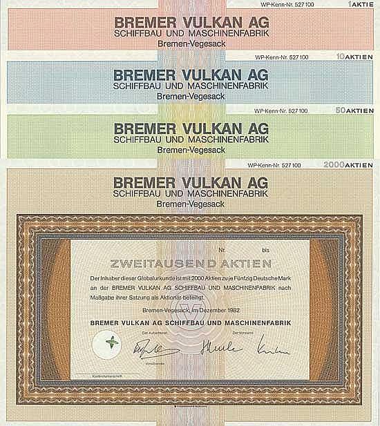Bremer Vulkan AG Schiffbau und Maschinenfabrik (11 Stücke)