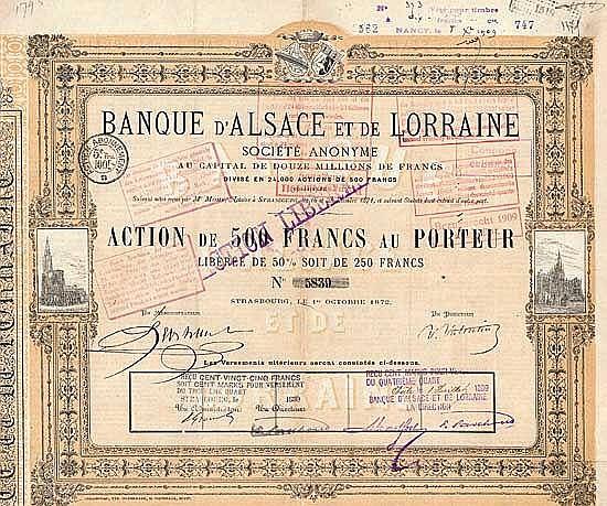 Bank von Elsaß und Lothringen AG (Banque d'Alsace et de Lorraine S.A.)