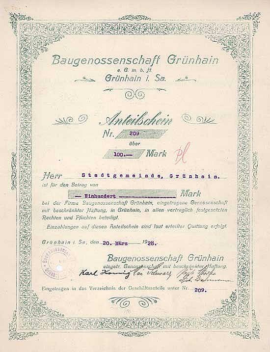 Baugenossenschaft Grünhain eGmbH