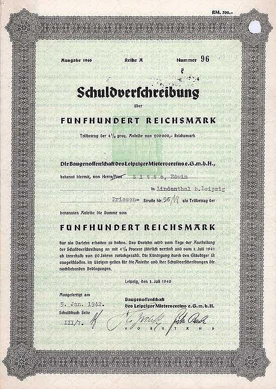 Baugenossenschaft des Leipziger Mietervereins eGmbH
