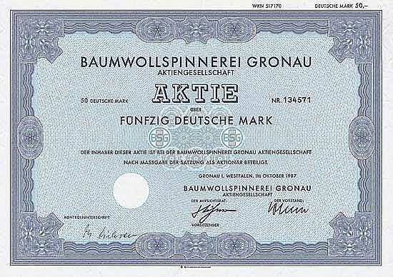 Baumwollspinnerei Gronau AG