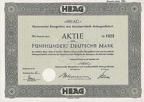 HEAG Hannoversche Eisengießerei und Maschinenfabrik AG